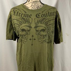 Xtreme couture men's green Large T-shirt